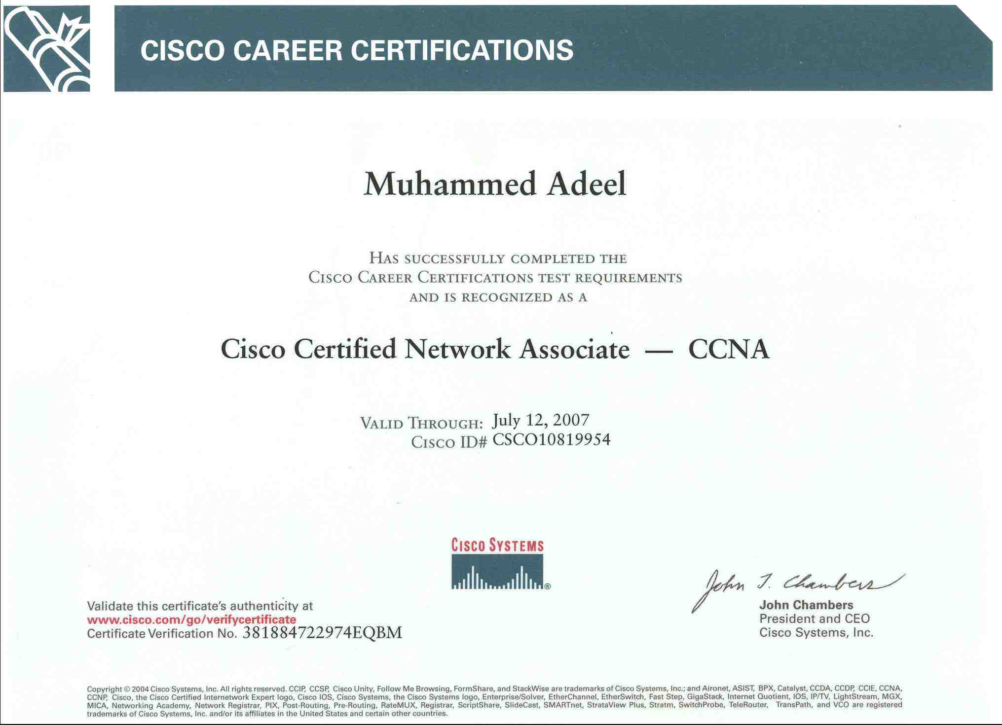 Certifications Muhammed Adeel