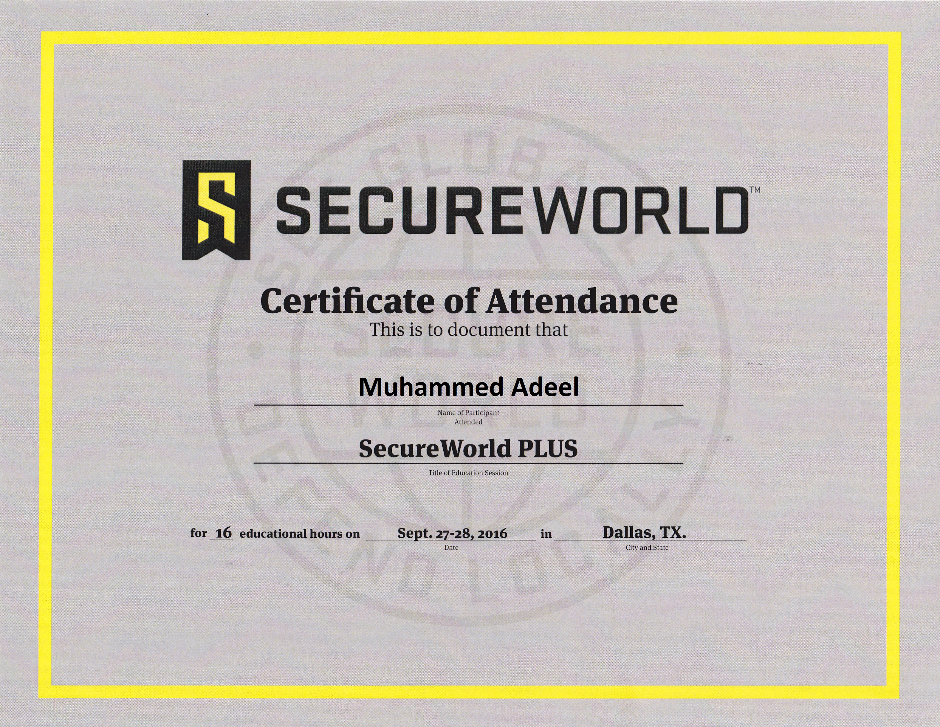 Trainings ceucpe muhammed adeel secureworld plusdesigning and building a cyber security program based on the nist cyber security framework 1betcityfo Images